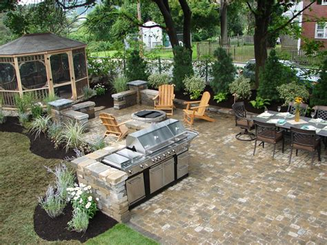 backyard grill area ideas 20 outdoor kitchens and grilling stations outdoor spaces
