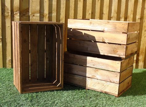 large  high rustic wooden storage crates