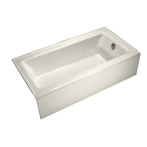 Shop Kohler Bellwether 60 In Biscuit Cast Iron Skirted Bathtub With Right Hand Drain