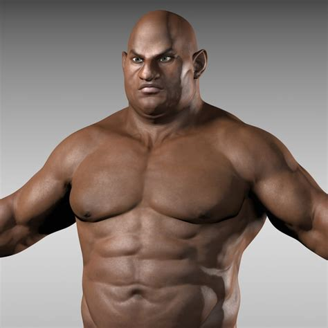 muscular man 31401 3d model athletic muscles characters