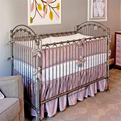 Silk Crib Bedding Set Lavender Silk Crib Bedding Set By Crown Interiors