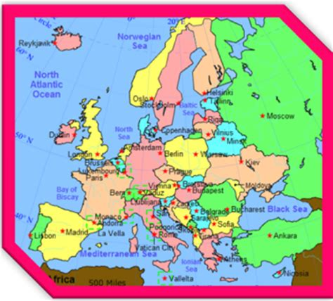 map of northern europe countries and capitals point european capitals