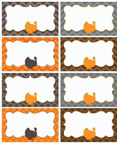free thanksgiving name card templates printable name cards for thanksgiving happy easter