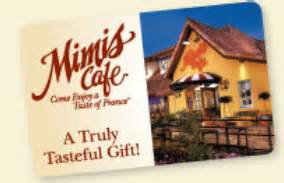 Mimi S Cafe Gift Card - mimi s cafe free lunch or dinner entree coupon