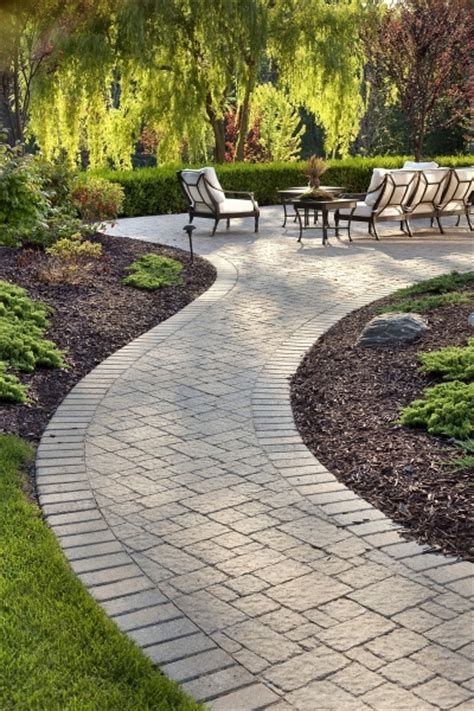Patio Walkway Designs Brick Patio Walkway