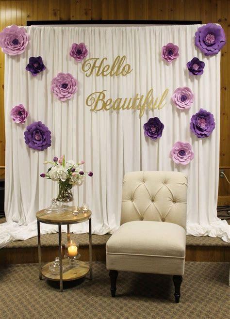 Bridal shower decor, special event decor, purple bridal