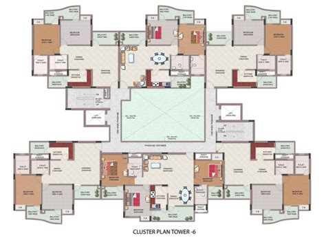 Cluster Home Floor Plans by Floor Plans Civitech Housing India P Ltd Ghaziabad