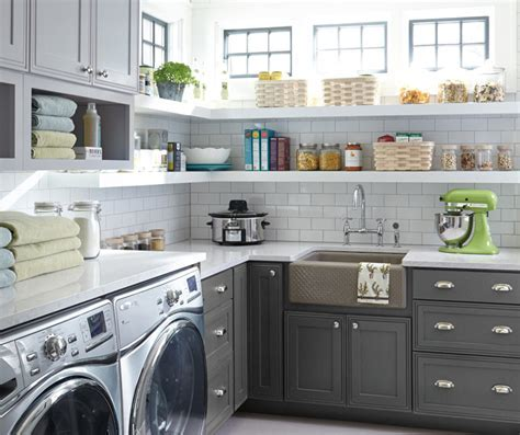 Grey Laundry Room Cabinets   Decora Cabinetry
