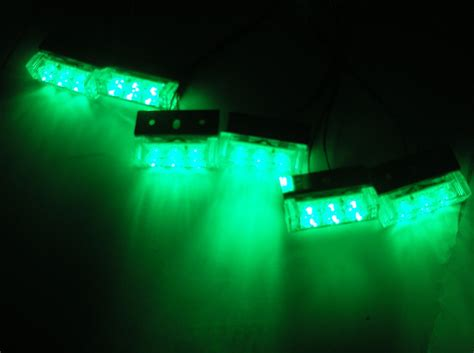 green led emergency lights 6x3 green led car suv emergency warning strobe light for