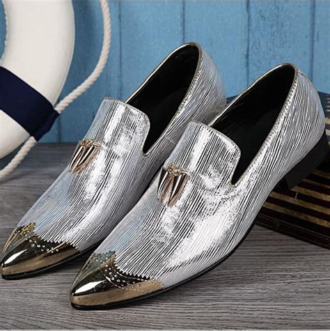 buy wholesale metallic silver loafers from china