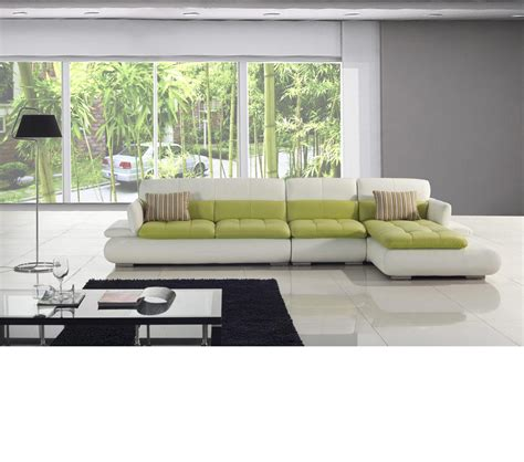 green leather sectional sofa dreamfurniture com t217 white and green leather