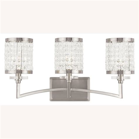 bathroom lighting fixtures brushed nickel livex lighting grammercy 3 light brushed nickel bath light