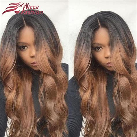ombre hair on black women buy ombre body wave human hair full lace wigs raw indian