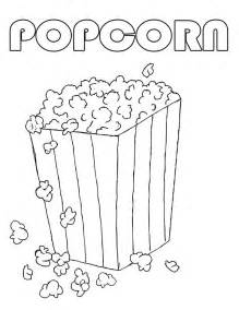 popcorn coloring pages popcorn coloring sheet coloring home