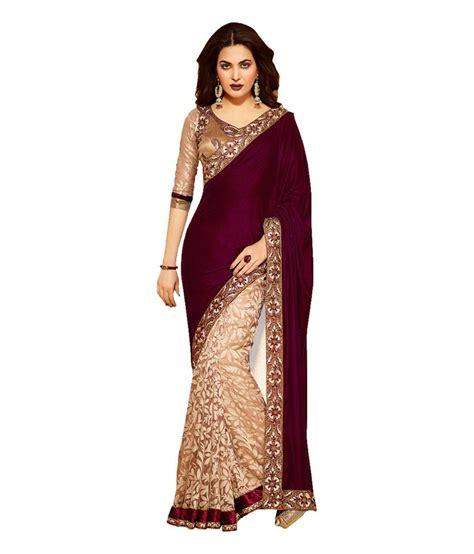 Fashion Maroon neerja fashion maroon velvet saree buy neerja fashion