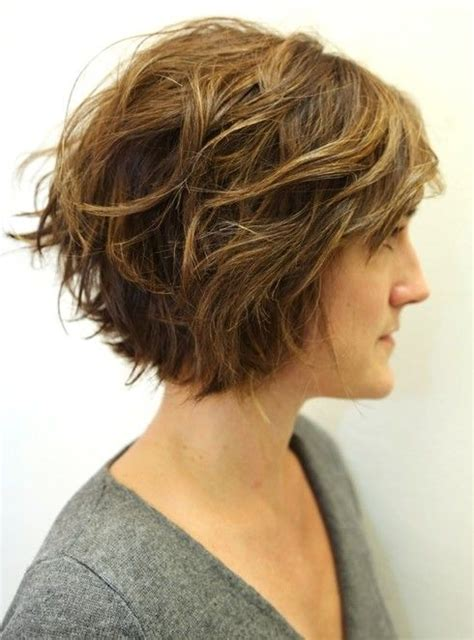 curly bob with shorter layers on top around face layered wavy bob hairstyles for women girls layered