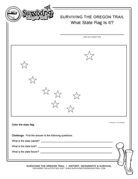 Geography Archives Surviving The Oregon Trail Alaska Flag Coloring Page