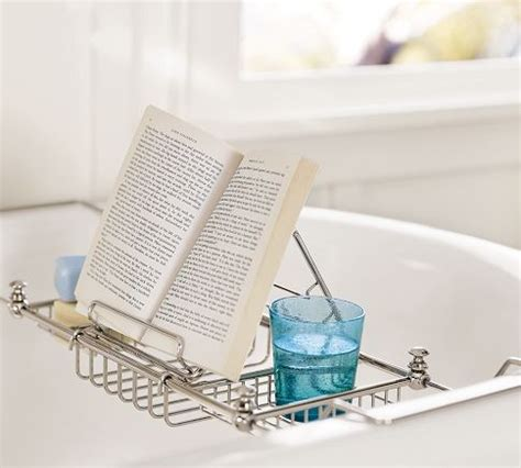 bathtub reading tray mercer bathtub caddy modern bath products by pottery