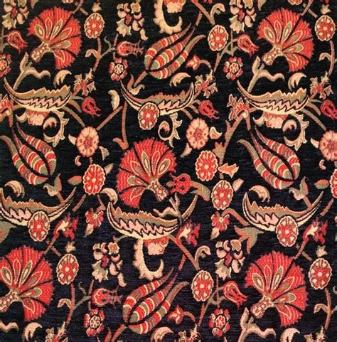 tulip upholstery fabric jacquard chenille upholstery fabric floral fabric with