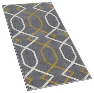 Yellow And Grey Runner Rug Geometric Gray Runner With Yellow Lines Contemporary And Stair Runners By Cozy Rugs