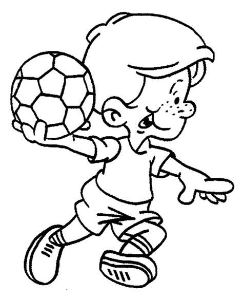 imagenes de niños jugando con globos para colorear dibujos sobre deportes 174 para colorear e imprimir