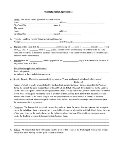 rental agreement template hashdoc