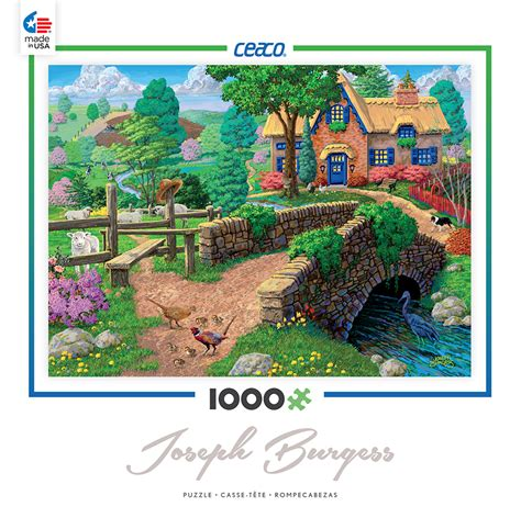 fence steps cottage 1000 pc ceaco jigsaw puzzle