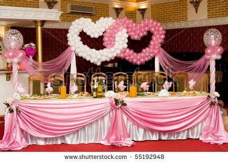 valentines dinner church decorations laid wedding
