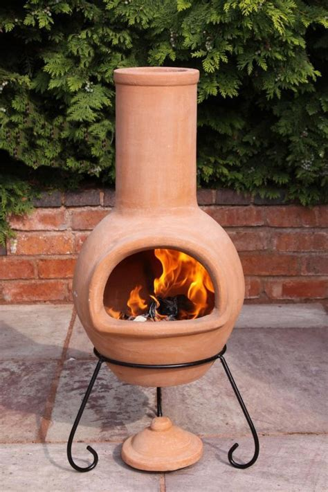 mexican clay chimenea large terracotta chiminea patio