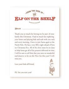 on the shelf letter from santa template printable