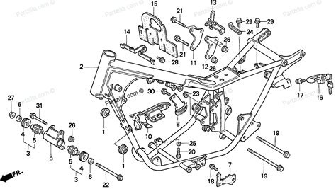 honda rebel 250 parts diagram honda motorcycle 2001 oem parts diagram for frame