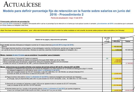 clculo asimilados a salarios 2016 excel uvt para calculo retencion salarios 2016 colombia