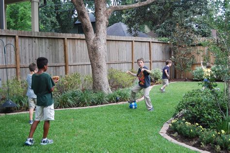 in the backyard or on the backyard boys running backyard richwood place houston texas