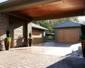 Two Car Garage Designs arts and crafts three car porte cochere photo in portland