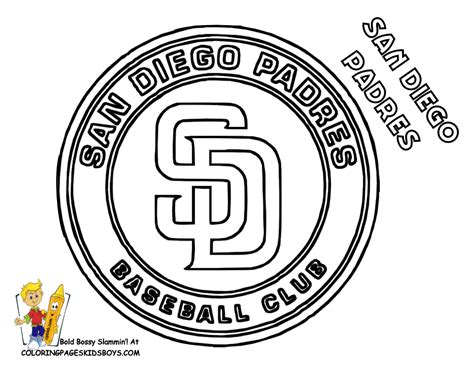 Free Coloring Pages Of Mlb All Logos Mlb Logo Coloring Pages