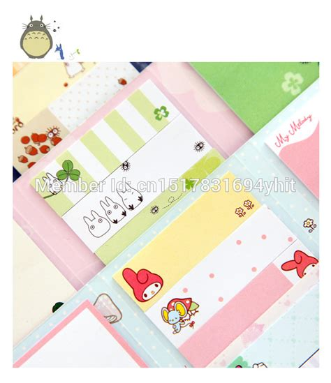 Memo Pad Standing Type Totoro totoro melody 6 folding memo pad sticky notes memo