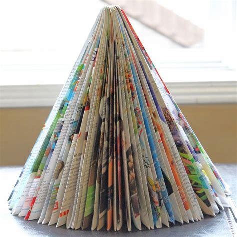 arboles de navidad hechos con revistas diy 193 rbol de navidad sencillo