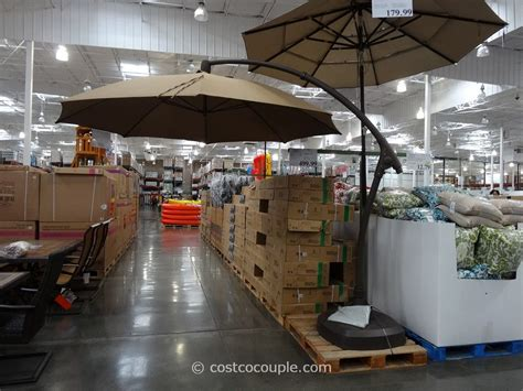 offset patio umbrella costco 11 foot parisol cantilever umbrella