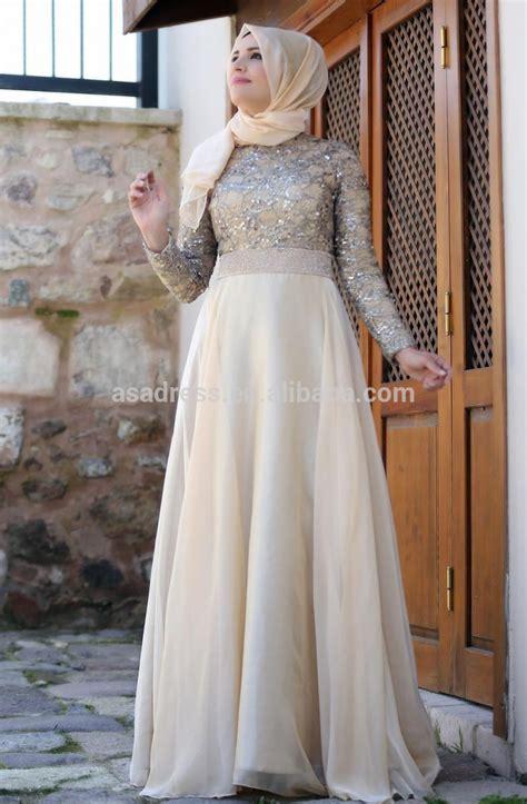 Baju Formal Form 6 ate17 empire abaya top design kaftan blue beaded sleeve muslim evening dress with