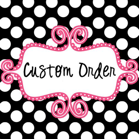 Handmade To Order - custom order embroidery design anyone