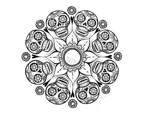 dead flower coloring page ispywithmycraftyeyes sugar skull flower finished dia de