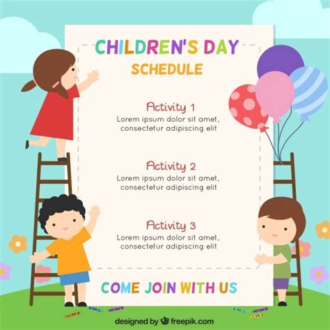 children s day card template children vectors photos and psd files free
