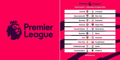 epl table rules the making of the premier league schedule soccer365