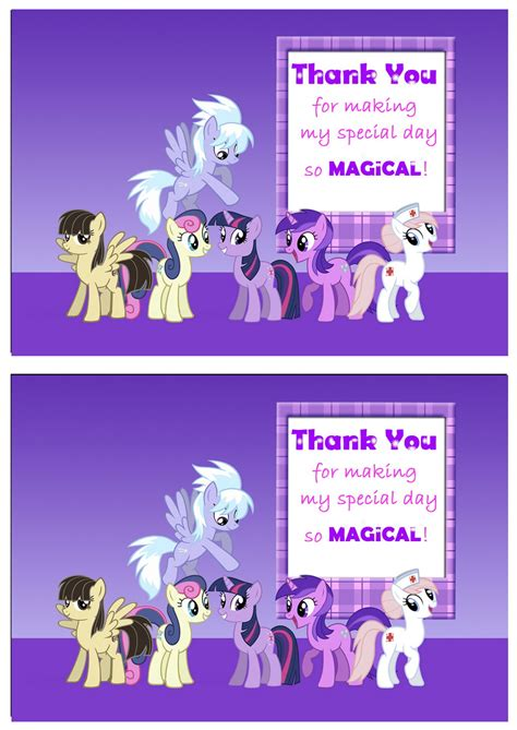 my little pony printable thank you cards design templates thank you cards sports thank you cards