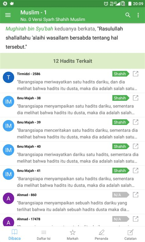 Indeks Hadits Ensiklopedi Hadits 9 Imam Android Versi Pro S D Tahun 2099