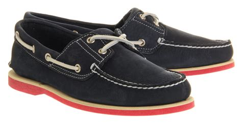 timberland boat shoes red sole timberland icon boat shoe navy barefoot leather red sole
