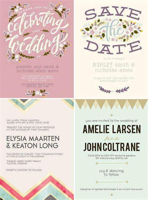 Basic Wedding Invitations by Stylish Wedding Invitations From Basic Invite Green