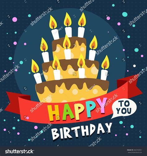 happy birthday card design template happy birthday card design template image stock vector