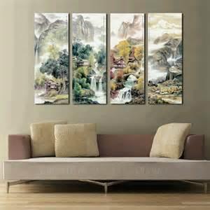 discounted wall decor large 4 canvas cheap modern wall panel decor 4