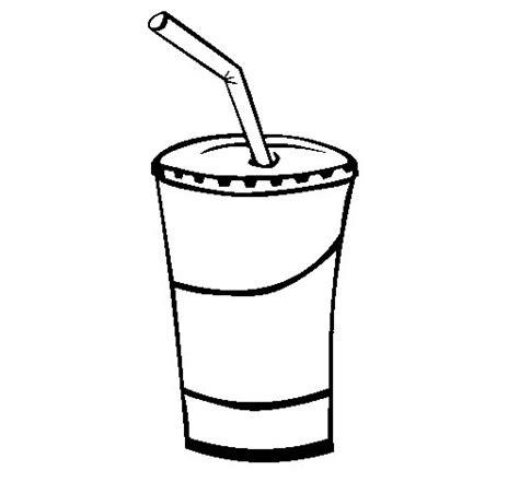 dibujos de bebidas para colorear dibujo de vaso de batido para colorear dibujos net